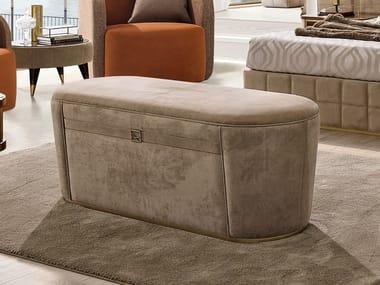 Storage upholstered fabric bench RICHMOND | Storage bench