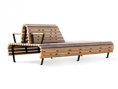 Panchina in rovere con schienale RIDDARHOLMEN | Panchina con schienale