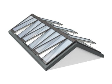 Glass and steel roof window RIDGELIGHT 25-40°