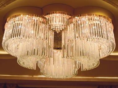 Lampada da soffitto in Cristallo al piombo RIFLESSI 5003