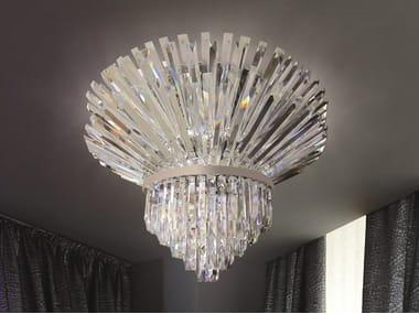Lampada da soffitto in Cristallo al piombo RIFLESSI 5024