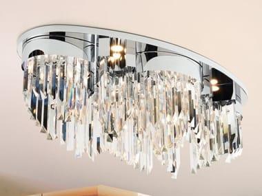 Lampada da soffitto in Cristallo al piombo RIFLESSI 7405