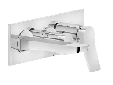 Mitigeur de baignoire 3 trous en laiton avec plaque RILIEVO | Mitigeur de baignoire 3 trous