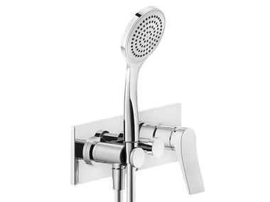 Mezclador de ducha de latón con 3 orificios con ducha de mano RILIEVO | Mezclador de ducha con 3 orificios