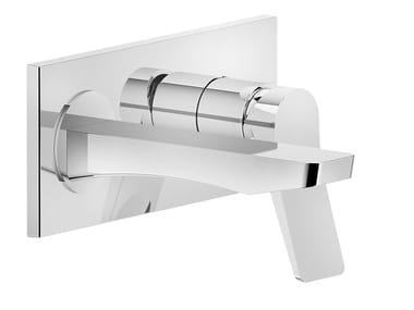 Mitigeur de baignoire 2 trous en laiton avec plaque RILIEVO | Mitigeur de baignoire