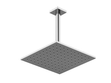 Tête de douche carrée en laiton avec système anti-calcaire RILIEVO | Tête de douche de plafond