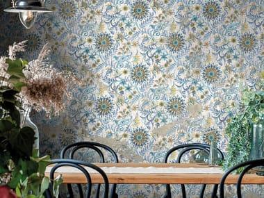 Papel de parede de tecido não tecido de flores RIMA