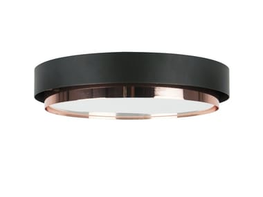 Plafoniera a LED in vetro opale con dimmer RING
