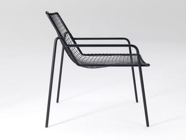 Steel easy chair with armrests RIO R50 | Easy chair with armrests