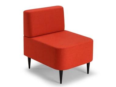 Modular fabric armchair RIPPLE | Armchair