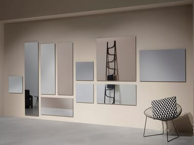 Rectangular wall-mounted mirror RISMA