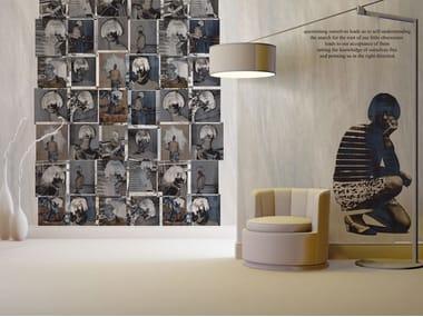 Papel de parede de fibra de vidro estilo moderno com escrita RITRATTI