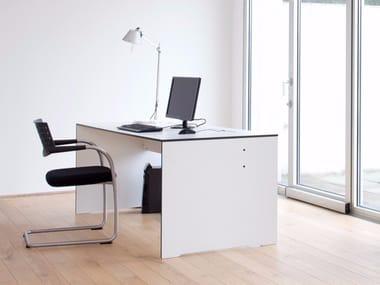 Rectangular HPL workstation desk RIVA   Office desk