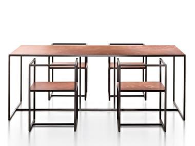Tavolo rettangolare in metallo RIVIERA | Tavolo