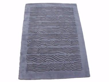 Patterned handmade rectangular rug RIVOLO