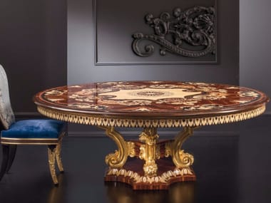 Round wooden living room table RM164 | Table
