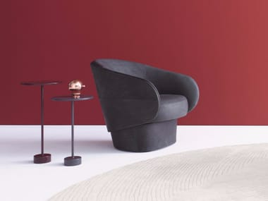 Leather easy chair with armrests ROC | Leather easy chair