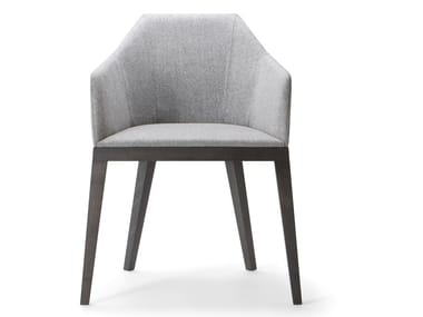 Upholstered chair with armrests ROCK ARMCHAIR