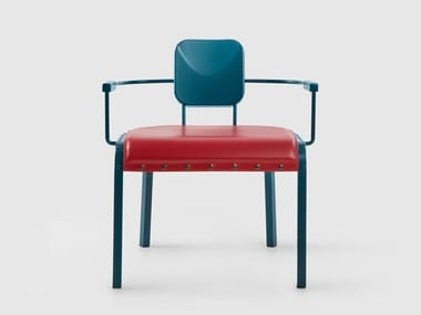 Aluminium easy chair with armrests ROCK   Easy chair with armrests