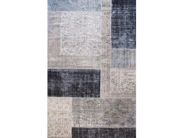 Handmade patchwork rug ROCK ELITE CENERE
