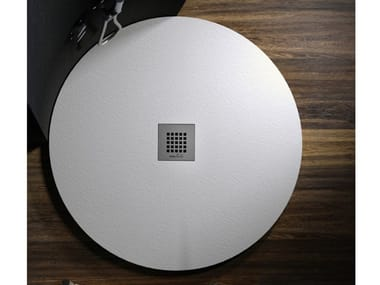Round built-in Marmoresina shower tray ROCKY CLASSIC | Round shower tray