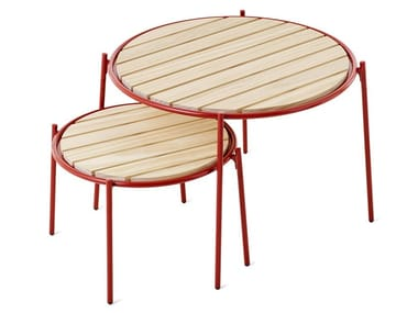 Round steel garden side table ROCKY | Garden side table