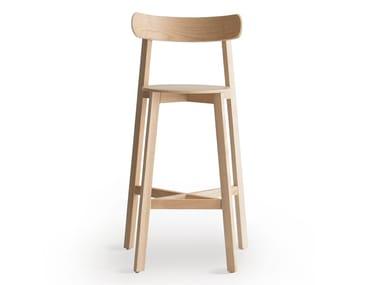 High wooden barstool RODA | Barstool