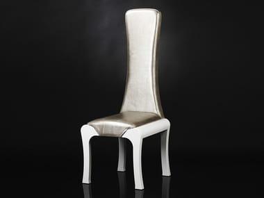 High-back leather chair ROI SOLEIL