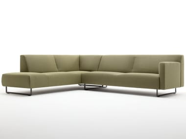 Sled base corner fabric sofa ROLF BENZ 328 | Corner sofa