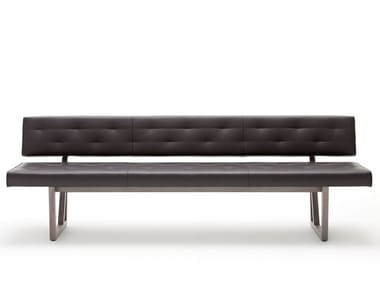 Tufted leather bench ROLF BENZ 624 | Leather bench