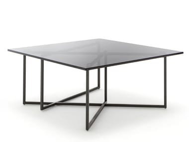 Square Glass And Steel Coffee Table For Living Room ROLF BENZ 8050 | Square Coffee  Table