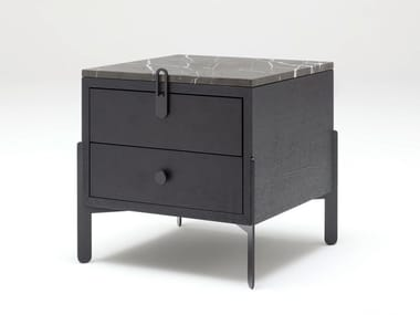 Square bedside table with drawers ROLF BENZ 914 | Bedside table