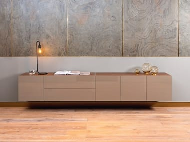 Wooden TV cabinet / sideboard ROLF BENZ 9200 STRETTO | Suspended sideboard