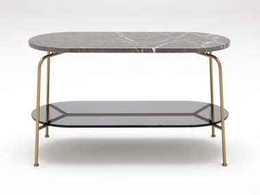 Oval marble high side table ROLF BENZ 947 | Coffee table