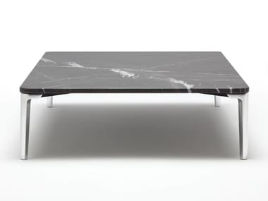 Low square stone coffee table for living room ROLF BENZ 971 | Square coffee table