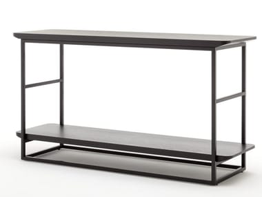 Rectangular wooden high side table ROLF BENZ 987 | High side table
