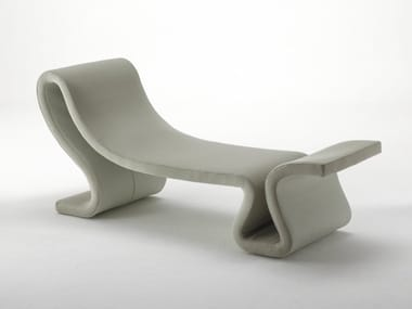 Upholstered fabric Chaise longue ROLLER | Chaise longue