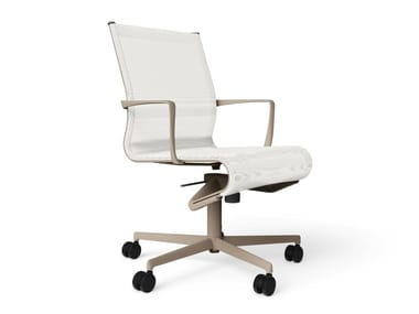 Height-adjustable swivel office chair with armrests ROLLINGFRAME 52 - 472