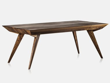 Extending rectangular solid wood table ROLY POLY