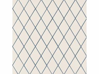 Revêtement de sol/mur en grès cérame ROMBINI LOSANGE WHITE BLUE
