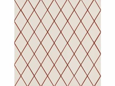 Revêtement de sol/mur en grès cérame ROMBINI LOSANGE WHITE RED