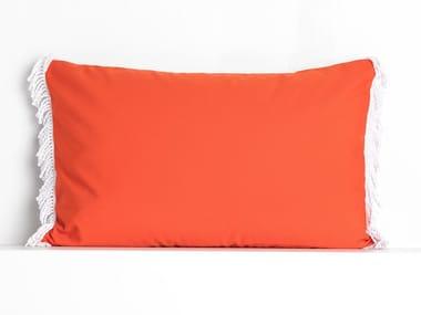 Rectangular outdoor acrylic cushion ROMY CORAIL & ORANGE | Rectangular cushion