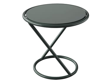 Table d appoint hautes ronde en métal JET 524Q Collection Jet By ... 88fd4d03fc73