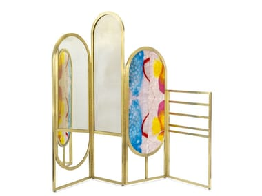 Mirrored glass Screen ROOM DIVIDER