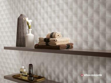 Rivestimento tridimensionale in ceramica a pasta bianca ROOM WALL | Rivestimento tridimensionale in ceramica a pasta bianca