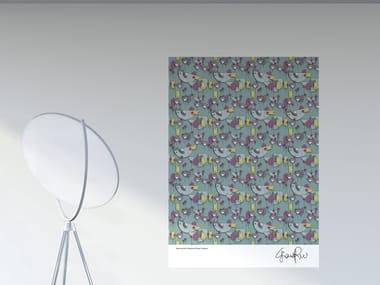 Decorazione adesiva a motivi in PVC ROOSTER IN PIECES | Poster