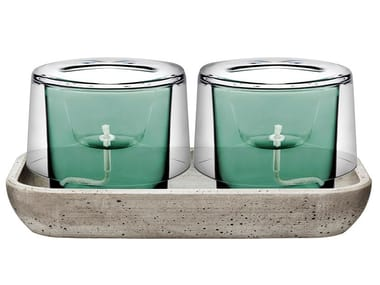 Crystal vase ROOTS HERB GARDEN