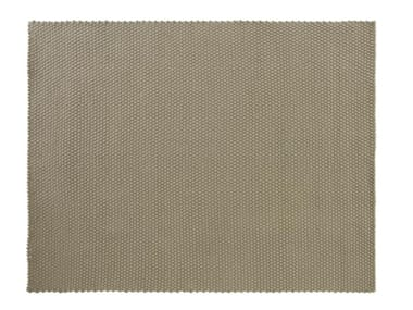 Solid-color rectangular Recycled PET outdoor rugs ROPE