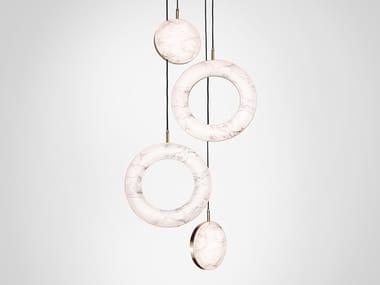 LED marble pendant lamp ROSA RING 4