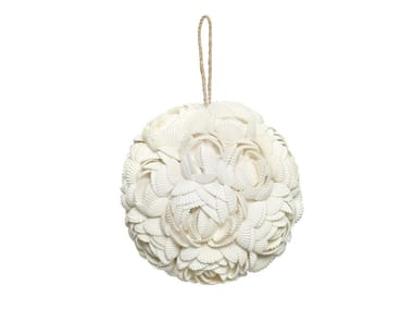 Wooden hanging decoration ROSE BALL
